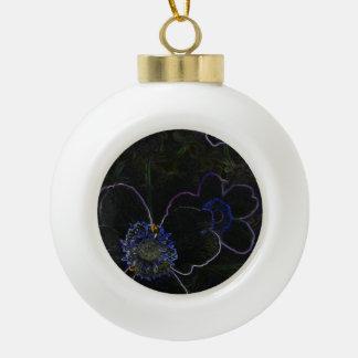 Flor mágica adorno de cerámica en forma de bola