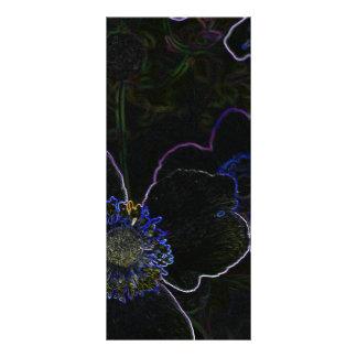 Flor mágica plantilla de lona
