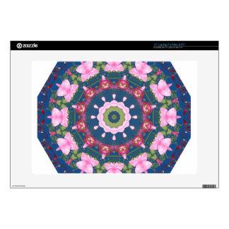 Flor-Mandala, rosa azul Portátil 38,1cm Skins