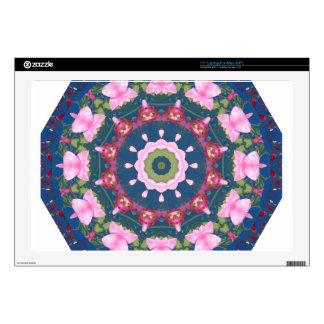 Flor-Mandala, rosa azul Skins Para 43,2cm Portátil