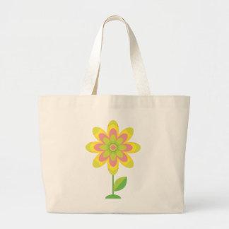 Flor maravillosa de la primavera bolsa lienzo