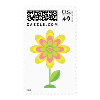 Flor maravillosa de la primavera sellos