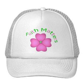 Flor - materias de la fe gorros bordados