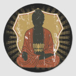 Flor Meditating de Buda Lotus Etiquetas