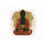 Flor Meditating de Buda Lotus Postal