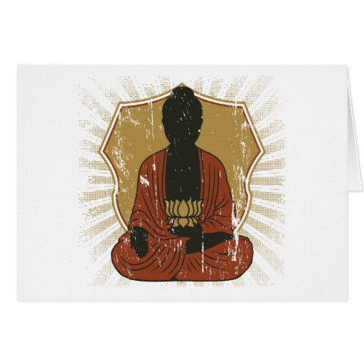 Flor Meditating de Buda Lotus Tarjetas