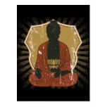 Flor Meditating de Buda Lotus Tarjetas Postales