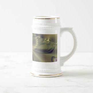 Flor metálica taza