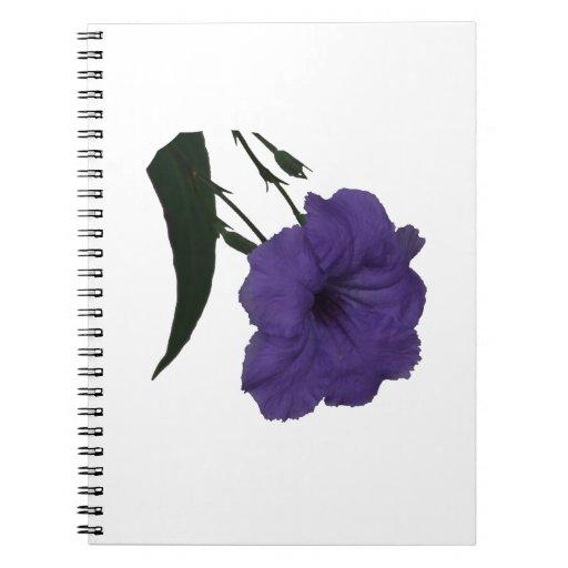 Flor mexicana del recorte de la petunia libros de apuntes