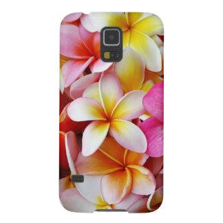 Flor mezclada blanca amarilla rosada del Plumeria Carcasas De Galaxy S5