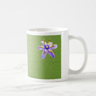 Flor minúscula tazas de café