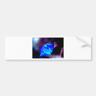 Flor mística azul pegatina para auto