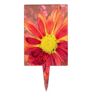 flor mojada roja figuras para tartas