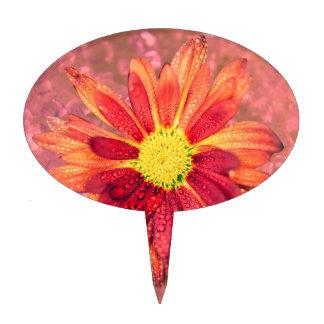 flor mojada roja figura para tarta