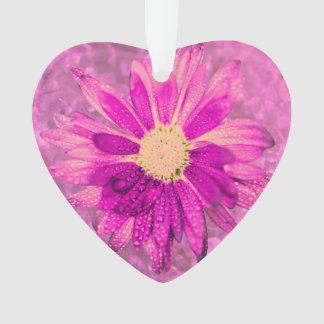 flor mojada rosada