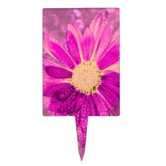 flor mojada rosada figuras para tartas
