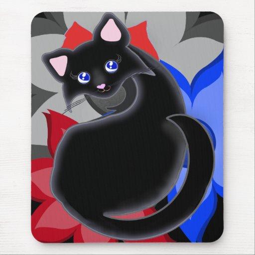 Flor Mousepad de los pétalos del gatito de Kiara T Tapetes De Raton