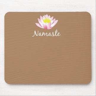 Flor Mousepad de Namaste Lotus Alfombrillas De Ratón