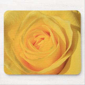 Flor Mousepad del rosa amarillo Alfombrillas De Ratones