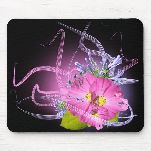 Flor Mousepad gráfico máximo ligero de lujo Tapetes De Ratón