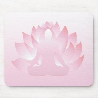 Flor Namaste Mousepad del rosa de la actitud de Lo Alfombrillas De Ratón