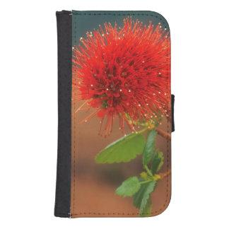 Flor natal del Bottlebrush (Greyia Sutherlandii) Cartera Para Galaxy S4