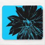 Flor negra alfombrilla de raton