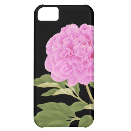Flor (negra) de la caja de la casamata del iPhone  Funda Para iPhone 5C
