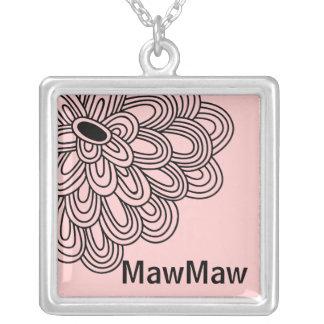 Flor negra de moda del collar de MawMaw en rosa