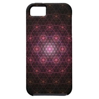 Flor negra de neón de la vida iPhone 5 funda