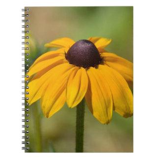Flor observada negro de Susan Note Book