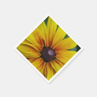 Flor observada negro de Susan Servilletas De Papel