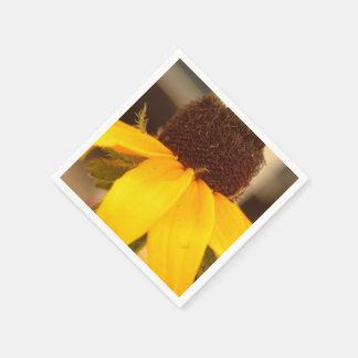 Flor observado negro de Susan Servilleta De Papel