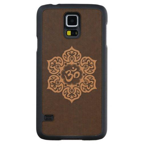 Flor OM de Brown Lotus Funda De Galaxy S5 Slim Arce