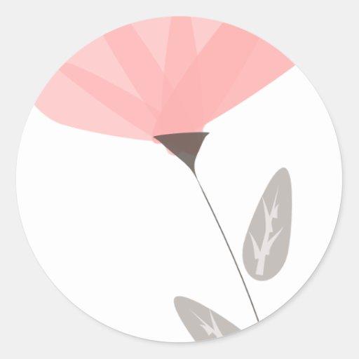 flor opaca pegatina redonda