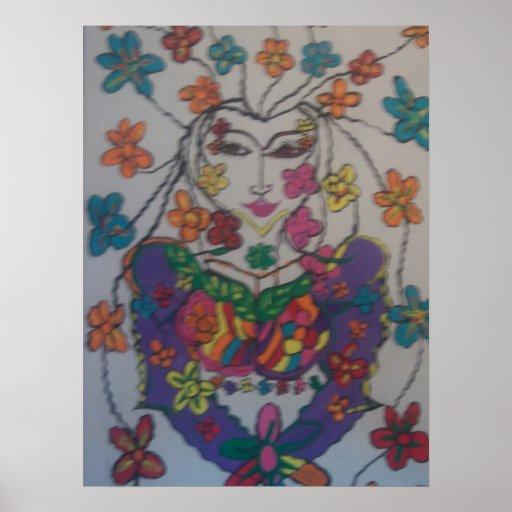 flor oriental, por el ashbyposter de Mandy Póster