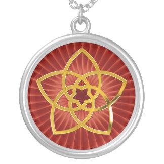 Flor/ORO de Venus del símbolo Colgante Redondo