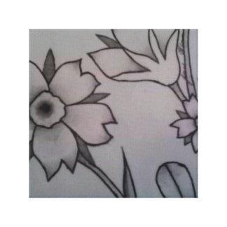 Flor parcial lienzo envuelto para galerías