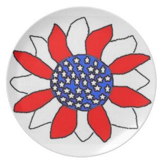 Flor patriótica plato