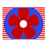 flor patriótica postal