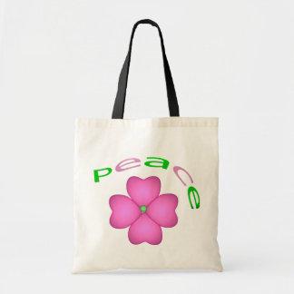 Flor - paz bolsa tela barata