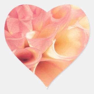 Flor Pegatina En Forma De Corazón