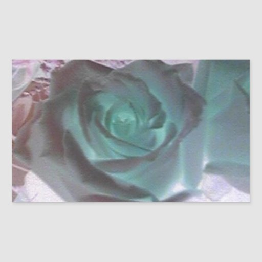 ¡Flor! Pegatina Rectangular