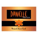 Flor personal del oro del negro de la tarjeta de p tarjeta de visita