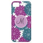 Flor personalizada personalizado de la púrpura de iPhone 5 Case-Mate coberturas