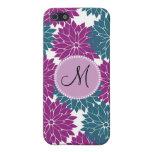 Flor personalizada personalizado de la púrpura de  iPhone 5 fundas