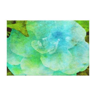 Flor pintada impresiones en lona estiradas