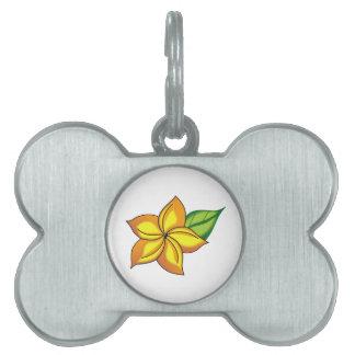 Flor Placa De Mascota
