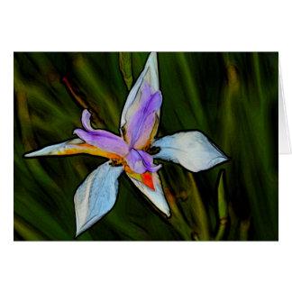 Flor preciosa tarjeta de felicitación