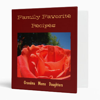 Flor preferida del rosa rojo de la carpeta de las